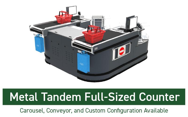 metal tandem full sized counter