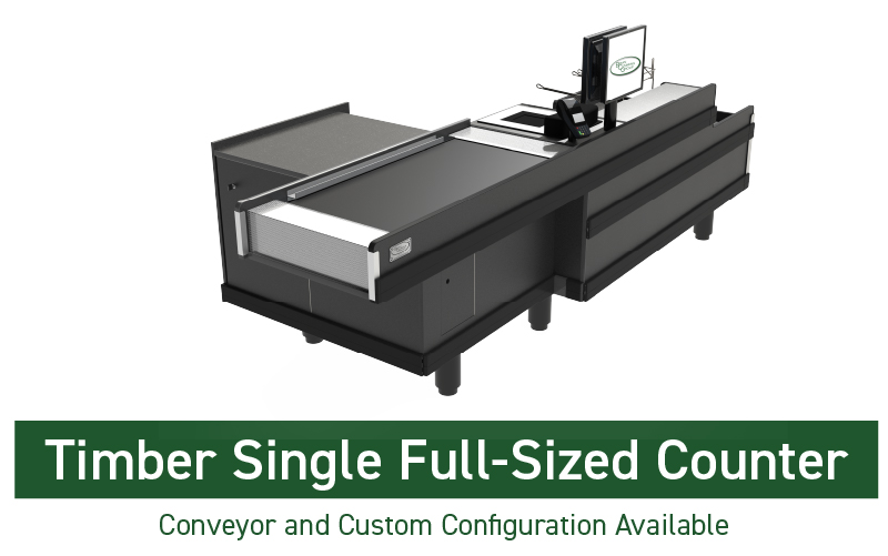 TIMBER SINGLE FULL SIZED COUNTER