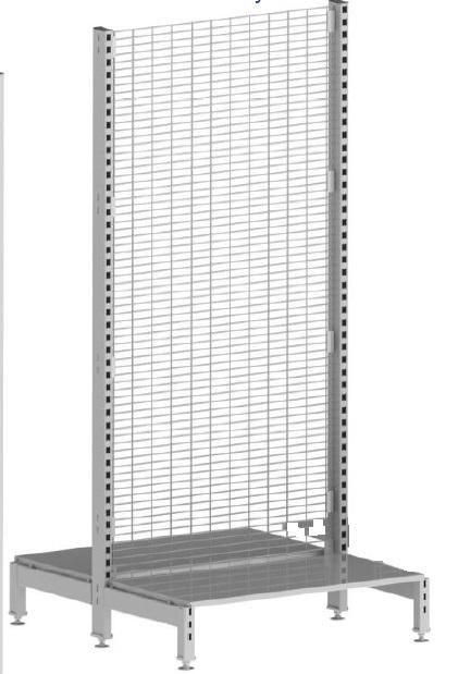 2020 SHELVING MESH BACK OYSTER GREY