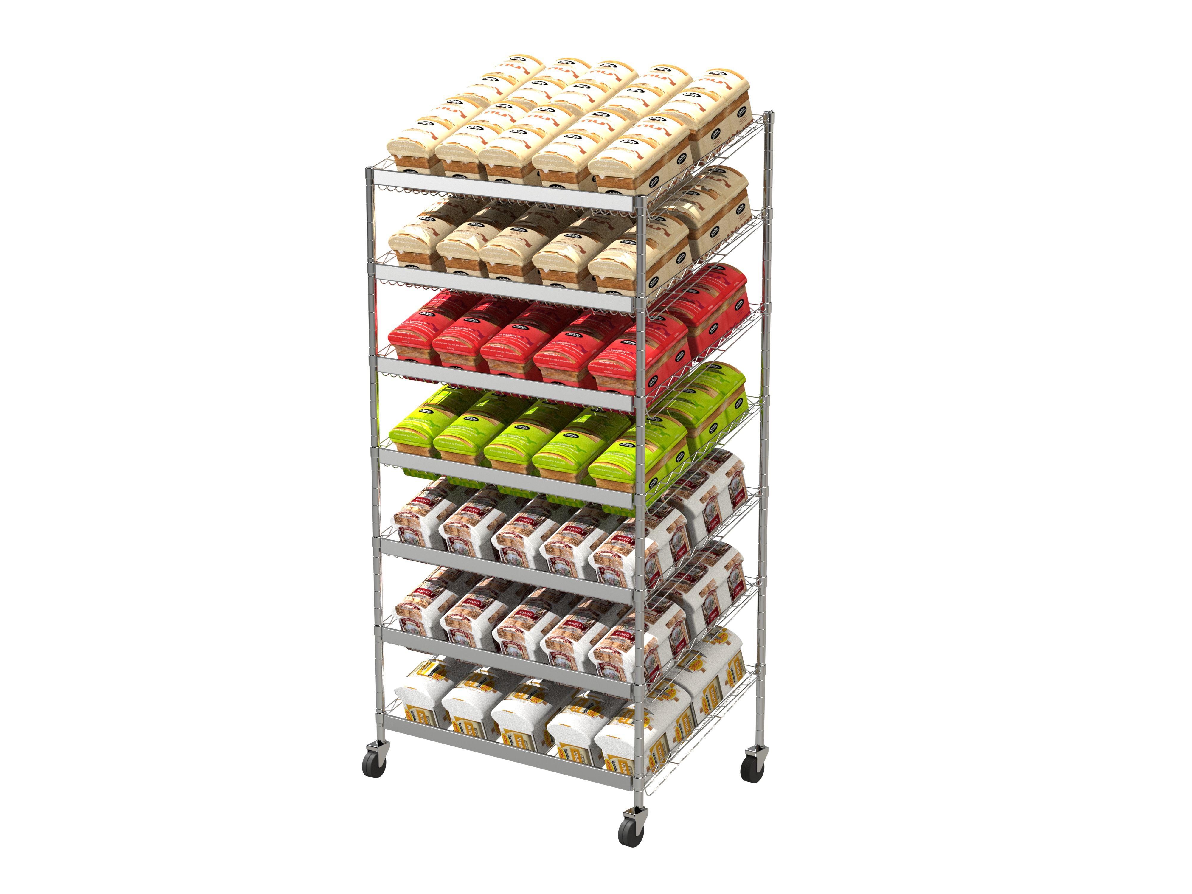 Angled Euro Bakery Cart1800x900x600