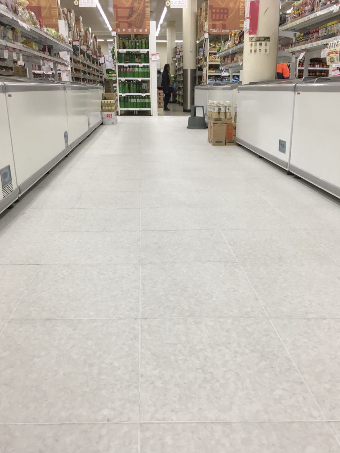 Campsie Rtile finished around shelves and rails