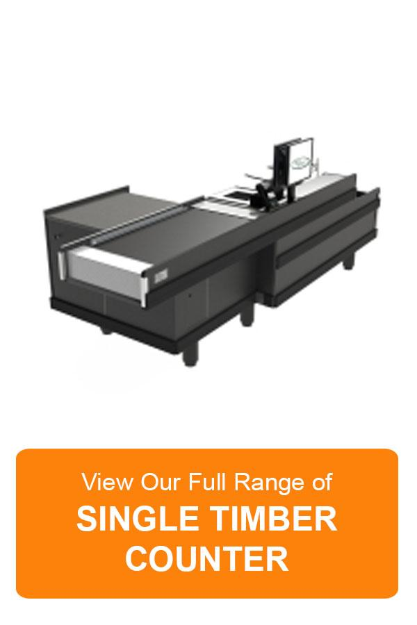 Single Timber Counter Checkout