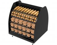 Bakery Gondola Cent Blk 1400hx1200x1200