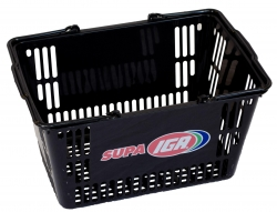 30Ltr Black Basket-Supa IGA, Pack of 20