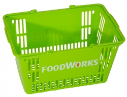30Ltr Lime Green Basket-FoodWorks, Pk 20