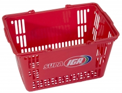 30Ltr Red Basket-Supa IGA, Pack of 20