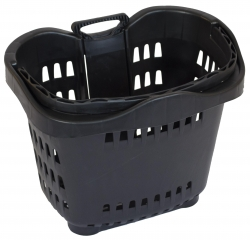 43Lt Wheelie Basket Black, Pack of 10