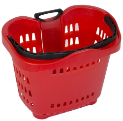 43Lt Wheelie Basket Red, Pack of 10