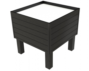 Produce Bin Black with Slats