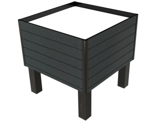 Produce Bin Greystone with Slats