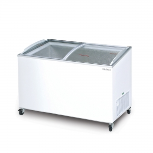 5 Foot Curved Glass Chest Freezer