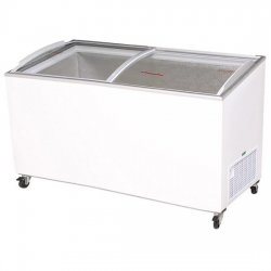 6 Foot Curved Glass Chest Freezer
