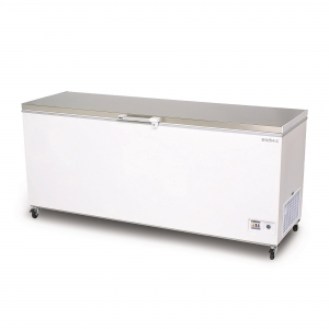 Flat Top S/Steel Chest Freezer 7ft