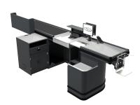 Checkout Metal Single Conveyor 3800 RH