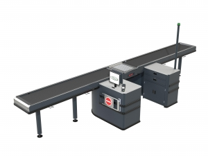 6m Double ended conveyor with roller RH