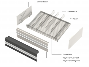 Cigarette Drawer Runners White