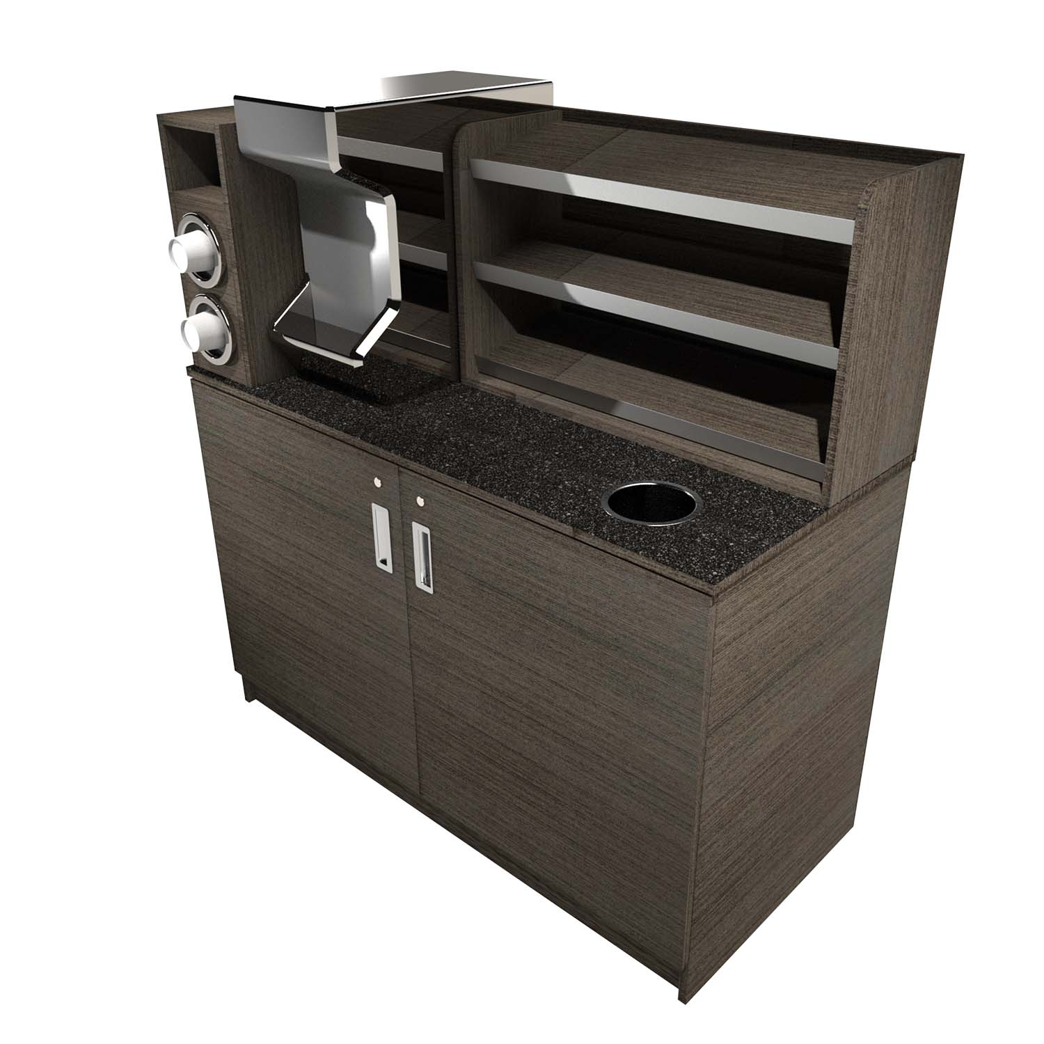 Coffee Station w/ Shelf & Cup Dispenser - Click for more info