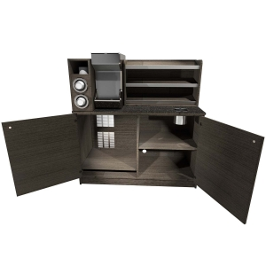 Coffee Station w/ Shelf & Cup Dispenser