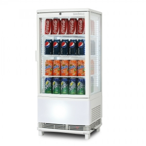 Countertop Curved Glass Chiller 80L W
