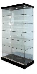 Scase Glass 3 Dwn Lts 1820x870x430 Blk