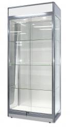 Showcase Glass w light Pchrome