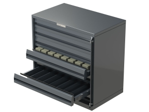 7 Drawer Cigarette Unit Grey Metal - Click for more info