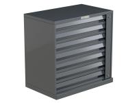 7 Drawer Cigarette Unit Grey Metal
