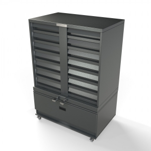 7+1 Drawer Metal Cig Unit on Castors
