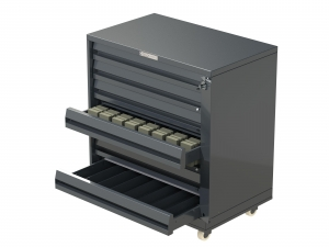 7 Drawer Cigarette Unit Metal on Castors