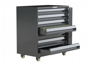7 Drawer Cigarette Unit Metal on Castors