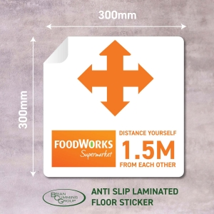 Floor Sticker Social Distancing Foodwork - Click for more info