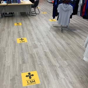 Floor Sticker Social Distancing No Brand