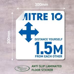Floor Sticker Social Distancing Mitre 10