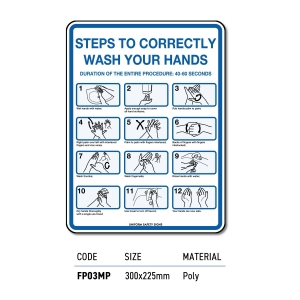 Safety Signage Wash Hands