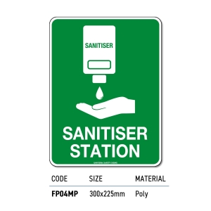 Safety Signage Sanitiser Station