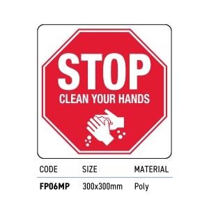 Safety Signage Clean Hands