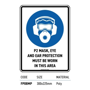 Safety Signage p2 Mask Ear Eye