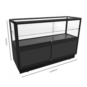 Glass Display Counter 1400 w/ Storage