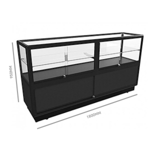 Glass Display Counter 1800 w/ Storage