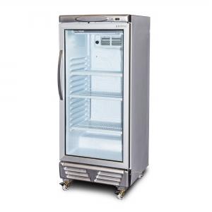 Vertical Glass Door Chiller LED 215L