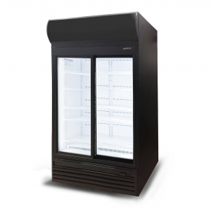 Sliding Glass Door 945L LED Display Chil