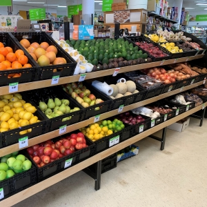Tiered Produce Unit Metal W/ Timber Ends - Click for more info