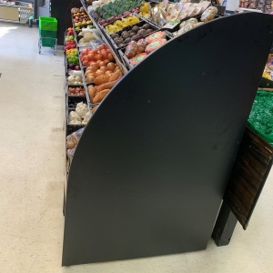 Tiered Produce Unit Metal W/ Timber Ends
