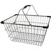 Lge. Chrome Shopping Basket - Pk.20- Blk