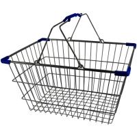 Lge. Chrome Shopping Basket - Pk.20- Blu