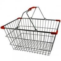 Lge. Chrome Shopping Basket - Pk.20- Red