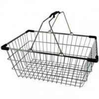 Med. Chrome Shopping Basket - Pk.20- Blk