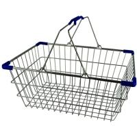 Med. Chrome Shopping Basket - Pk.20- Blu
