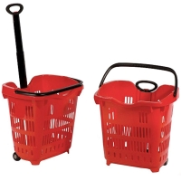 42 Litre Red Wheelie Basket - Pk.10