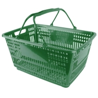 32L Green Shopping Basket - Pk.12